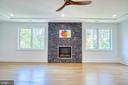 Fireplace Surrounded by Quartzite Stone - 4531 40TH ST N, ARLINGTON