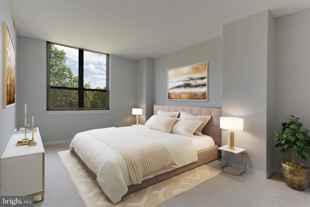 Master bedroom - virtual image - 3883 CONNECTICUT AVE NW #707, WASHINGTON