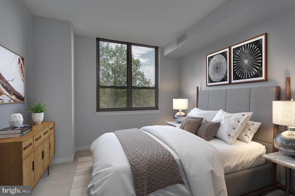 2nd bedroom - virtual image - 3883 CONNECTICUT AVE NW #707, WASHINGTON