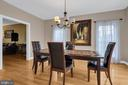 Plenty of Space in this Light and Bright Dining Rm - 41743 STUMPTOWN RD, LEESBURG