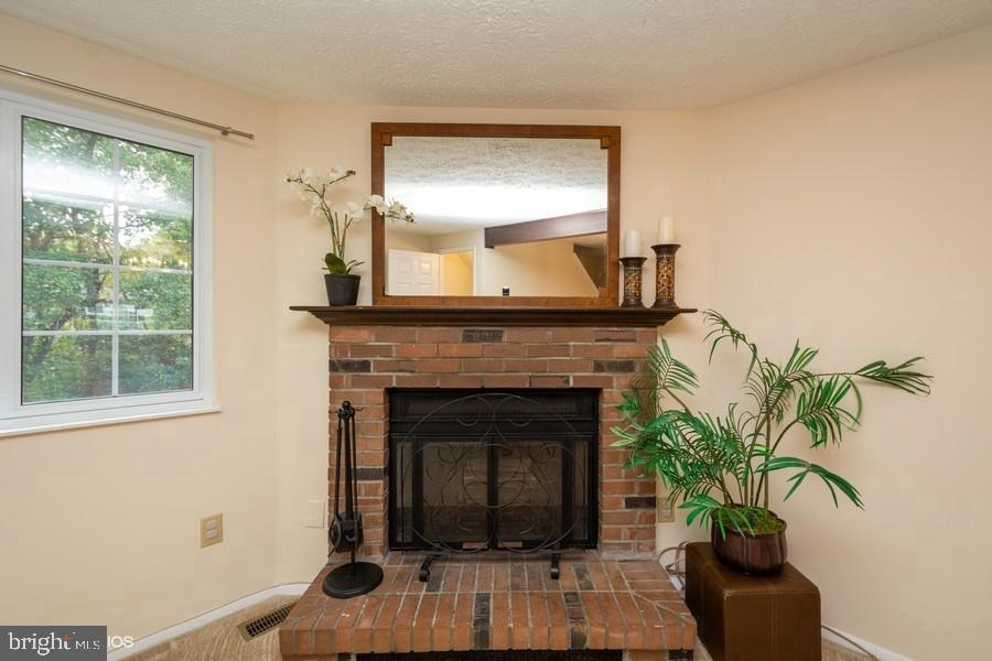 Wood-burning fireplace w/ mantel, equipment - 8461 SUGAR CREEK LN, SPRINGFIELD