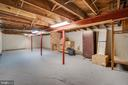Large basement for storage or hobbies - 300 QUEEN ST, ALEXANDRIA
