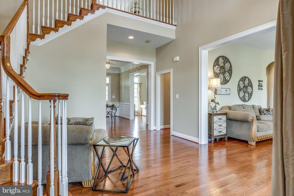 Rear foyer with French doors leading to outside - 19607 ABERLOUR LN, LEESBURG