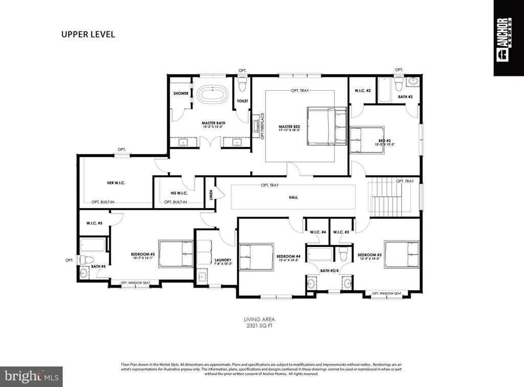 Merlot Model 2nd Floor Plan - 822 18TH ST S, ARLINGTON