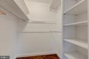 Walk-in closet - 3601 TILDEN ST NW, WASHINGTON