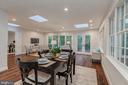 Breakfast area of Family room - 3601 TILDEN ST NW, WASHINGTON