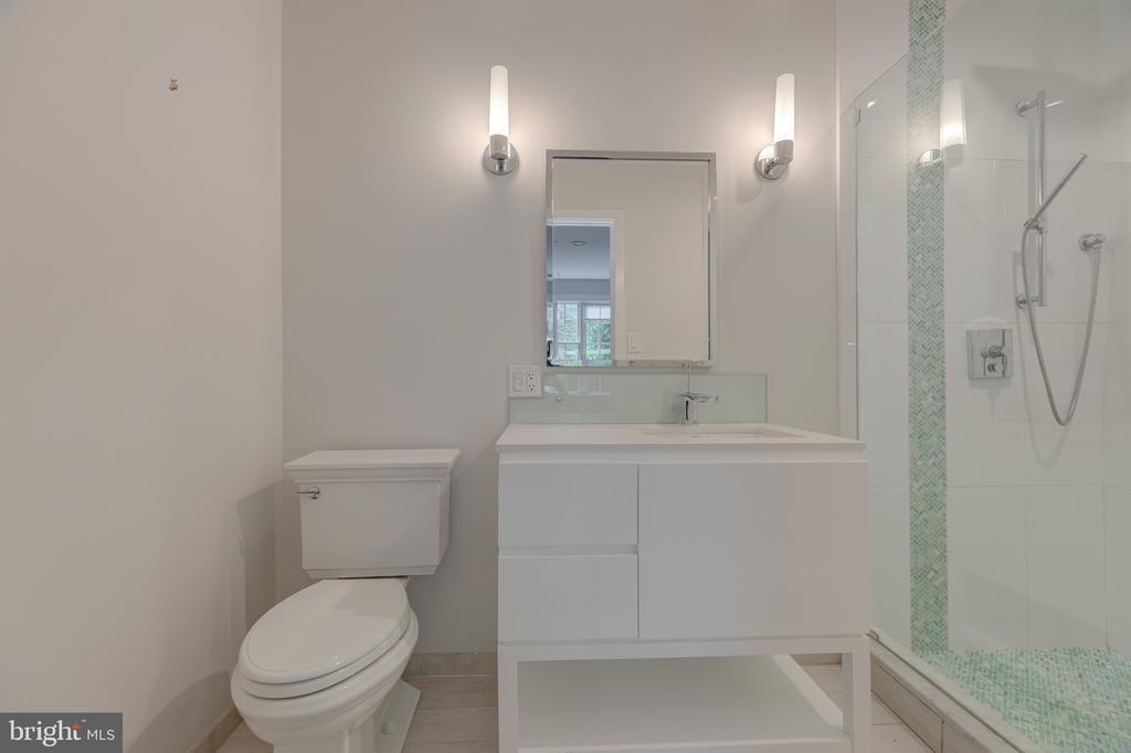 Renovated full bath on main level - 3601 TILDEN ST NW, WASHINGTON