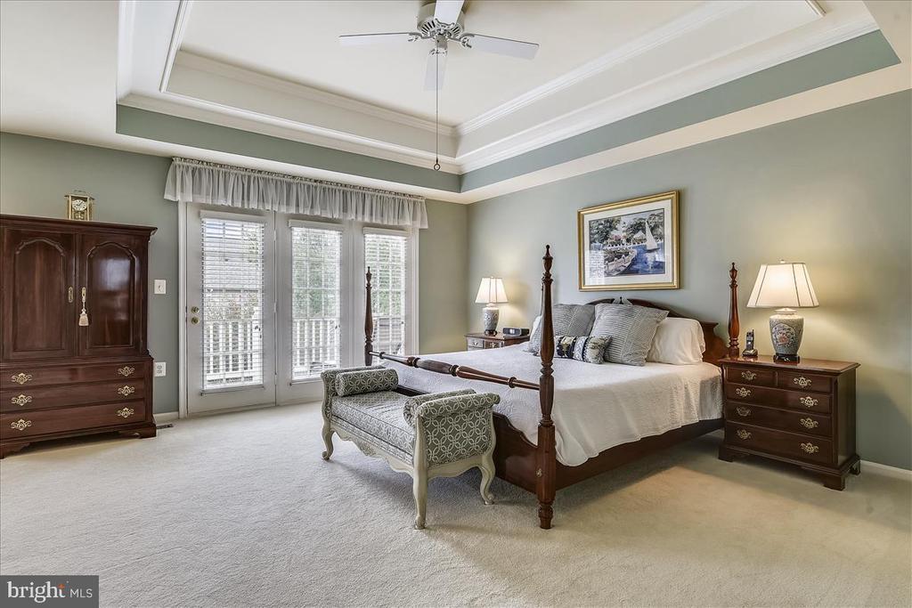 Master Bedroom Suite with walkout to Deck - 43433 WILD DUNES SQ, LEESBURG