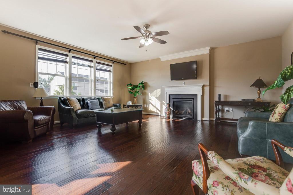 Family Room w/ Gas Fireplace - 16350 BOATSWAIN CIR, WOODBRIDGE