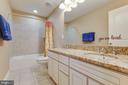 Guest Bathroom with Double Vanity - 16350 BOATSWAIN CIR, WOODBRIDGE