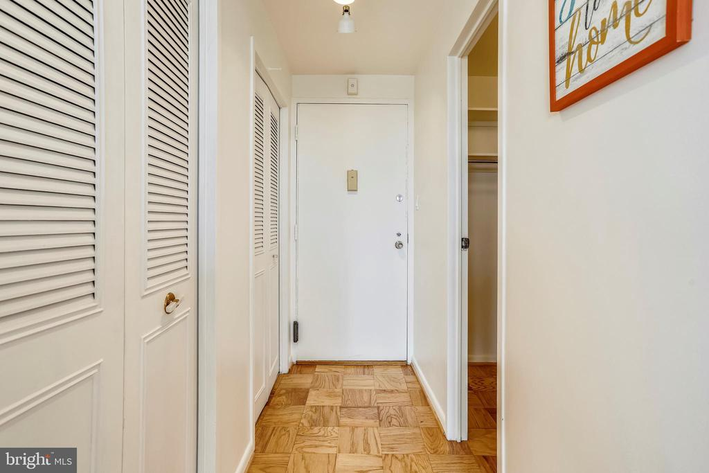 WALK-IN CLOSET & WALL OF CLOSETS IN THE ENTRY WAY - 10500 ROCKVILLE PIKE #1619, ROCKVILLE