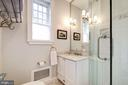 Carrara marble bath en suite to Bedroom 2 - 1901 WYOMING AVE NW #11, WASHINGTON