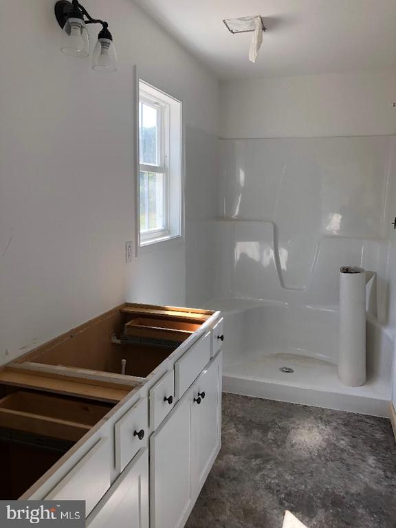 Master bath with double vanities, walk in shower - 29366 OLD OFFICE ROAD, RHOADESVILLE