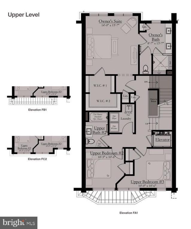 Upper Level Floor Plan - 8213 RIVER ROAD, BETHESDA
