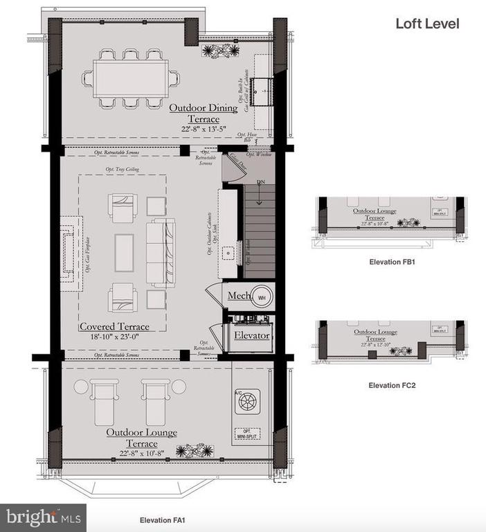 Rooftop/Loft Level - Floor Plan - 8213 RIVER ROAD, BETHESDA