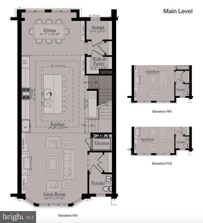 Main Level Floor Plan - 8213 RIVER ROAD, BETHESDA