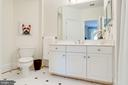 Upper Level Princess Suite Bathroom w/Linen Closet - 7357 NICOLE MARIE CT, MCLEAN