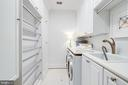 California Closet Upper Lvl Laundry w/Drying Rack - 7357 NICOLE MARIE CT, MCLEAN