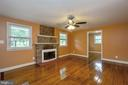 Fireplace  and harwood floors - 5500 MORRIS AVE, SUITLAND