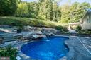Inground Heated Gunite  Pool with Waterfall - 31 LAUREL HAVEN DR, STAFFORD