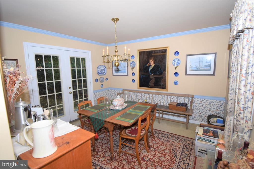 Formal Dining room opens to Kitchen and Backyard - 11690 STOCKBRIDGE LN, RESTON