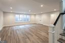 Lower Level Rec Room with natural light - 1607 N BRYAN ST, ARLINGTON