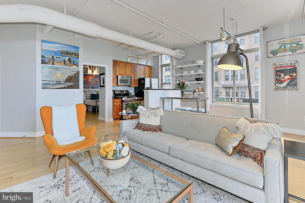 Bright and airy living with 10 foot ceilings - 1205 N GARFIELD ST #308, ARLINGTON