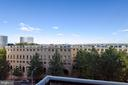 Balcony view - 1401 N OAK ST #307, ARLINGTON