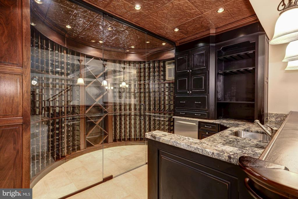 Custom Wine Cellar - 10015 HIGH HILL PL, GREAT FALLS