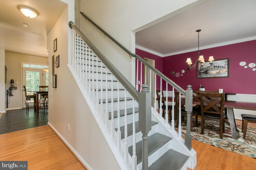 Inviting Foyer w/ Gleaming HW Floors - 7 EMERALD DR, FREDERICKSBURG