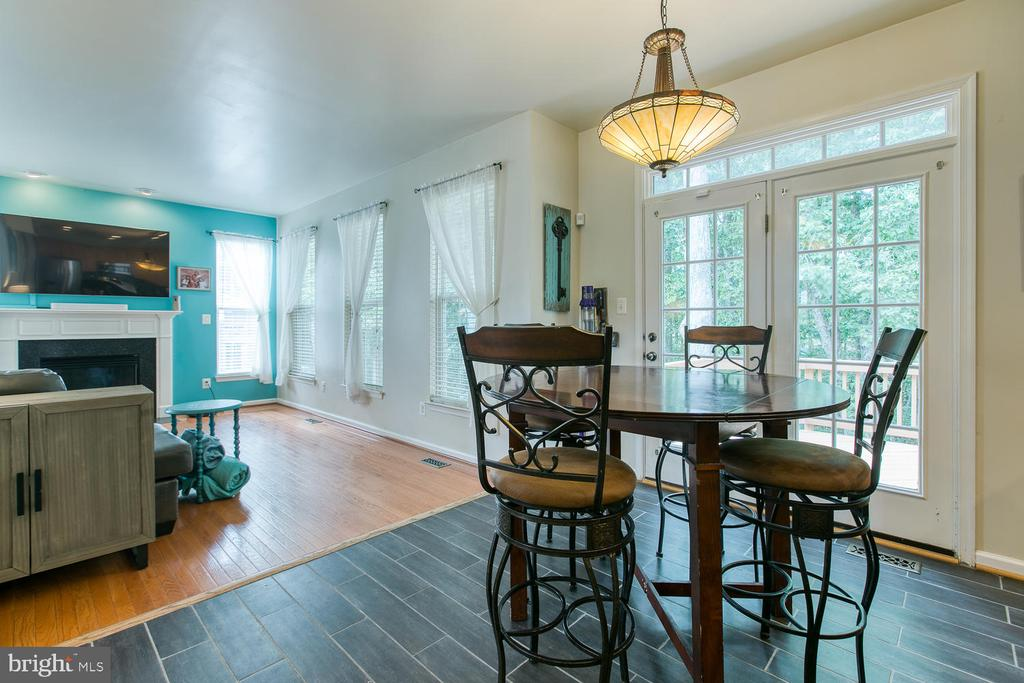 French Doors Off Breakfast Area Lead to Deck - 7 EMERALD DR, FREDERICKSBURG