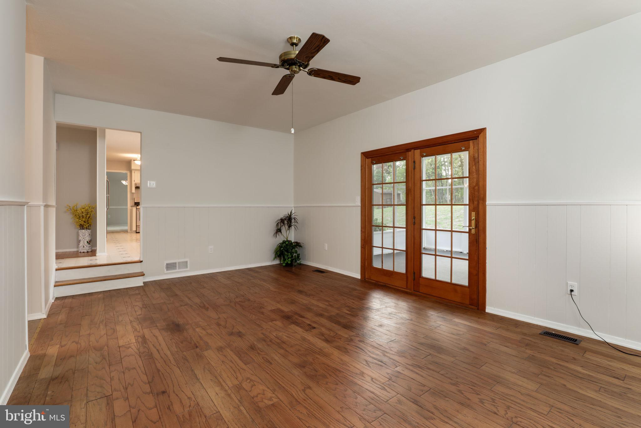 family room off kitchen and porch
