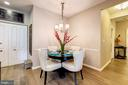 A formal dining nook next to the kitchen. - 7706 HAYNES POINT WAY #D, ALEXANDRIA