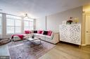 The living room is huge! - 7706 HAYNES POINT WAY #D, ALEXANDRIA
