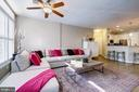 Ceiling fans help keep it cool in summer. - 7706 HAYNES POINT WAY #D, ALEXANDRIA