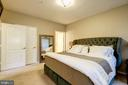 The master bedroom is huge. - 7706 HAYNES POINT WAY #D, ALEXANDRIA
