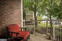 The balcony. - 7706 HAYNES POINT WAY #D, ALEXANDRIA