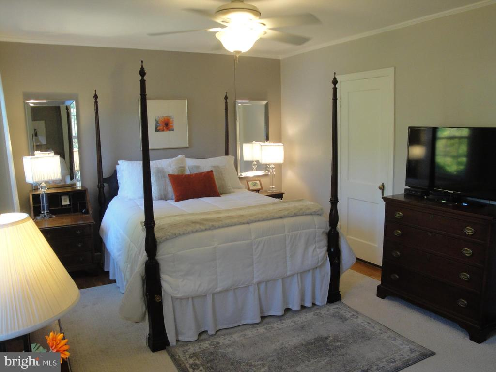 Big bedroom with ceiling fan & hardwood floor - 1100 S BARTON ST S #292, ARLINGTON