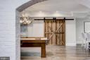Vintage Stag Chandelier & Rustic Barn Door - 416 GARRISON FOREST RD, OWINGS MILLS