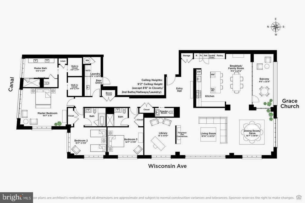Floorplan - 1055 WISCONSIN AVE NW #3-W, WASHINGTON