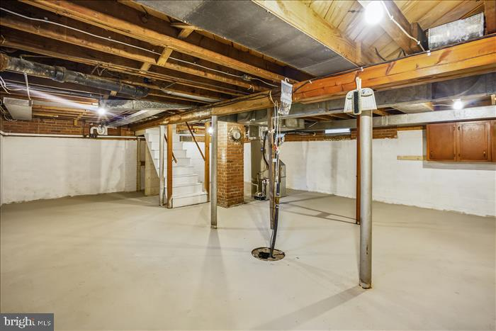 Unfinished basement. - 508 CARROLL AVE, MOUNT AIRY
