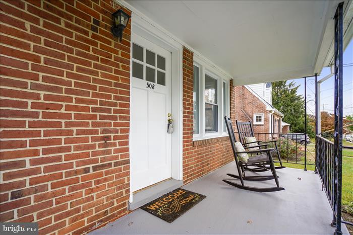 Lovely porch to sit and relax. - 508 CARROLL AVE, MOUNT AIRY