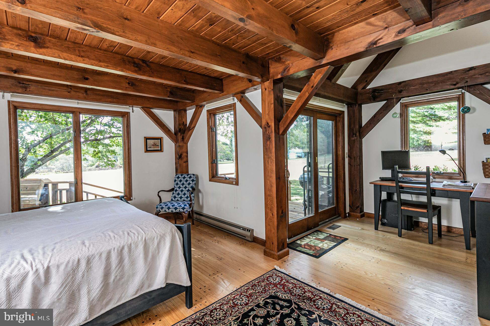 Master Bedroom,  doors onto private deck