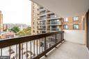 Covered patio with downtown Arlington views - 3800 FAIRFAX DR #302, ARLINGTON