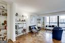 Great natural light from double sliding doors - 3800 FAIRFAX DR #302, ARLINGTON