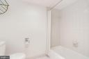Tub/shower combo with all white finishes - 3800 FAIRFAX DR #302, ARLINGTON