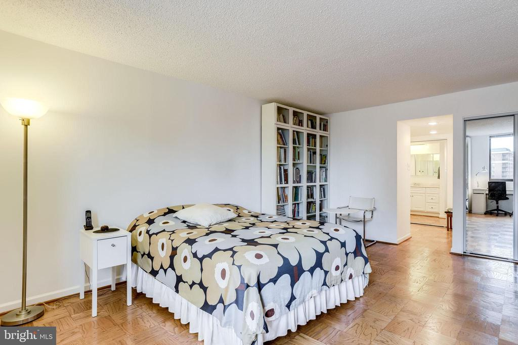 Master bedroom with private bath and dressing area - 3800 FAIRFAX DR #302, ARLINGTON