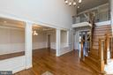 Coffered ceilings,hardwood floors & iron railings - 1522 CROWELL RD, VIENNA