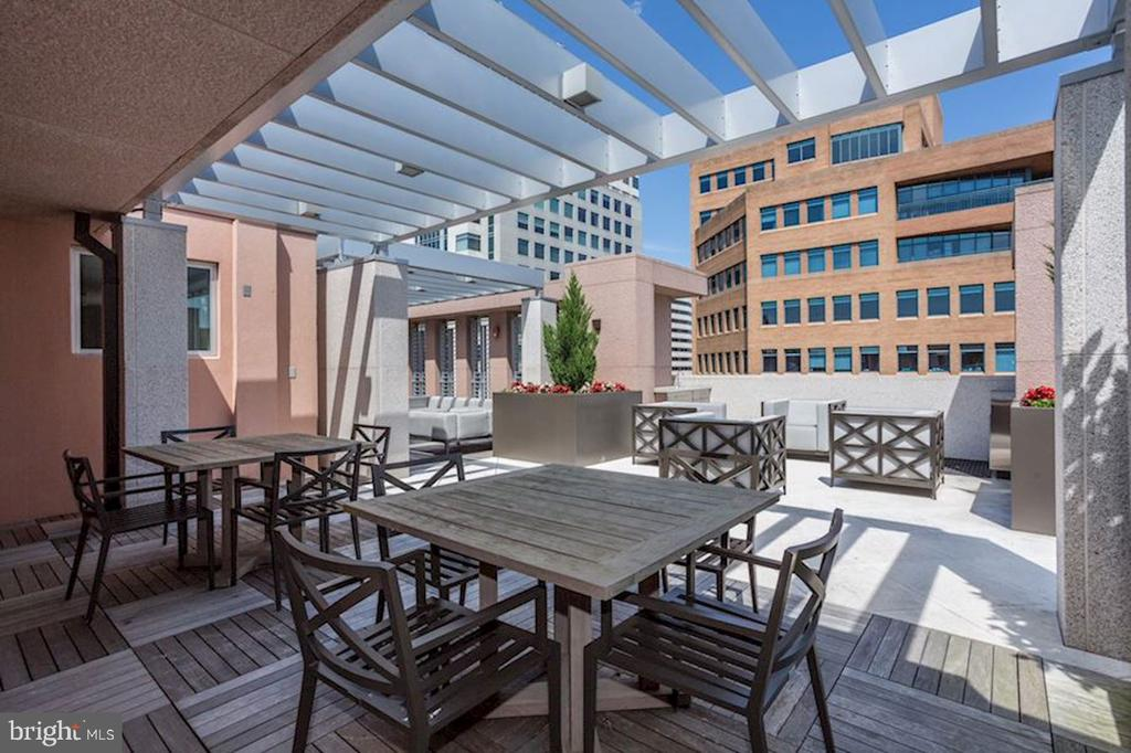 Well appointed roof top terrace - 4901 HAMPDEN LN #602, BETHESDA