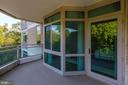 Balcony view from Master suite - 5630 WISCONSIN AVE #501, CHEVY CHASE